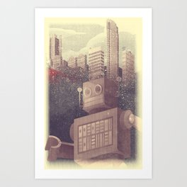 A City Snow-Bot Art Print