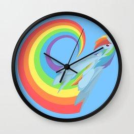 Rainboom Rainbow Dash Wall Clock