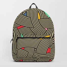 Modern Scandinavian Multi Colour Color Curve Graphic Backpack