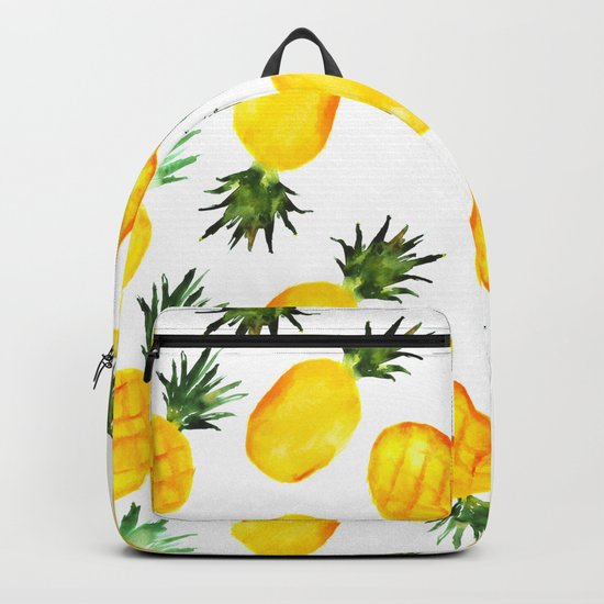 Pineapple vibes || watercolor Backpack