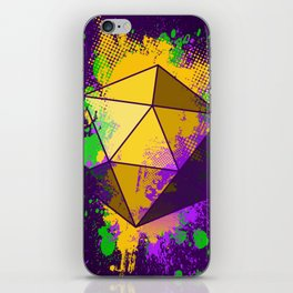 D20 Mardi Gras Splatter iPhone Skin