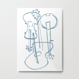 Instrumesh Metal Print