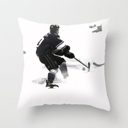 The Deke - Hockey Player Throw Pillow