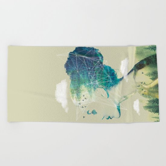 Geo Forest Beach Towel