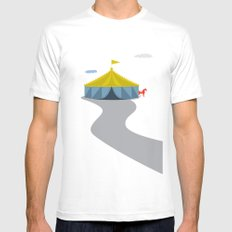 Circus White MEDIUM Mens Fitted Tee