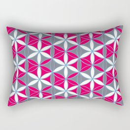 Flower of Life Pattern 16 Rectangular Pillow