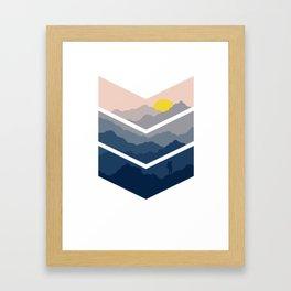 Chevron Hiking Framed Art Print