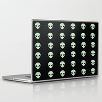 aliens Laptop & iPad Skins featuring Aliens  by gracekansai