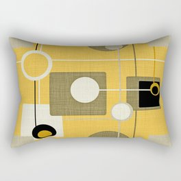 orbs and square gold yellow Rectangular Pillow