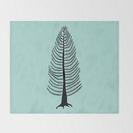 West Coast Cedar Tree Throw Blanket
