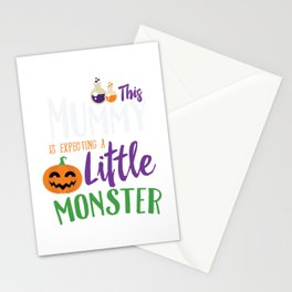 This Mummy is Expecting A Little Monster Halloween Stationery Cards