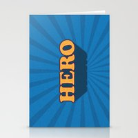 hero Stationery Cards featuring Hero by Word Quirk