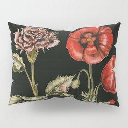 Carnation & Poppy on Charcoal Pillow Sham