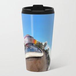 Around Tel Aviv Stereographic Panorama of Dizengoff Center Travel Mug