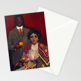 African American Portrait Masterpiece 'Lucie and Her Partner' by Kees van Dongen Stationery Cards