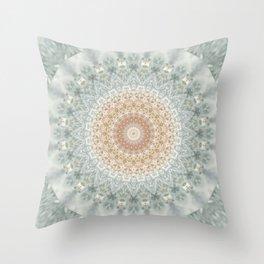 Mandala Snow Queen Throw Pillow