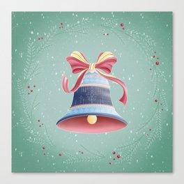 Green christmas bell Canvas Print