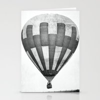 hot air balloon Stationery Cards featuring Hot Air Balloon by Rose Etiennette