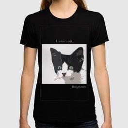 bully kitten i love you T-shirt