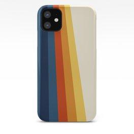 Bright 70's Retro Stripes iPhone Case