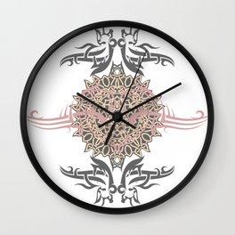 Heart in kaos Wall Clock