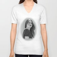 lydia martin V-neck T-shirts featuring Lydia by Lauren Spooner
