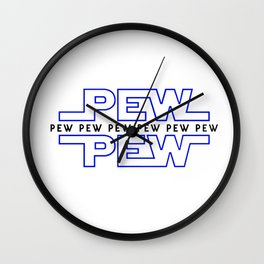 Pew Pew V2 Wall Clock