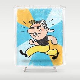 See Billy Walk... RUN! Shower Curtain