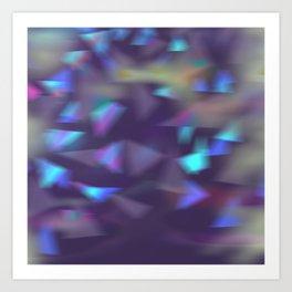 Christmas lights violet Art Print