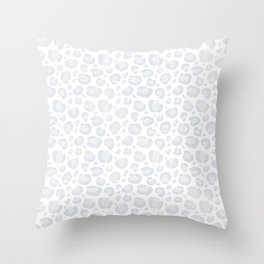 White & Light Gray Leopard Print  Throw Pillow