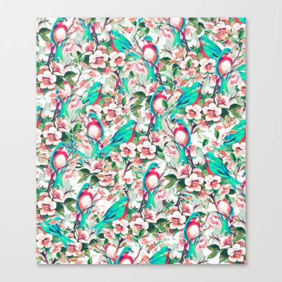 Birds & Flowers #society6 #decor #buyart Canvas Print