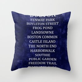 Boston 2 Throw Pillow