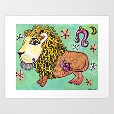 ox MAJESTIC LEO xo Art Print
