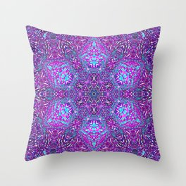 Pink, Purple, and Blue Mandala Throw Pillow
