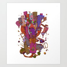 Litle city Art Print