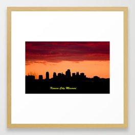 Kansas City Missouri Skyline at Sunset Framed Art Print