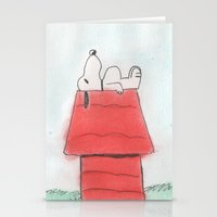 peanuts Stationery Cards featuring Peanuts by Smash Art