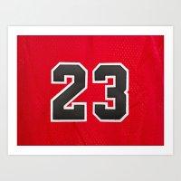 chicago bulls Art Prints featuring Michael 23 Jordan Chicago Bulls by Rorzzer