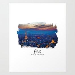 Paris City of lights Art Print
