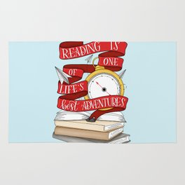 Reading is One of Life's Best Adventures Rug