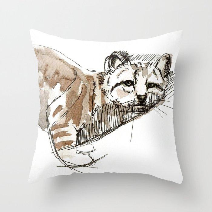 Totem Andean cat (AGA) Throw Pillow