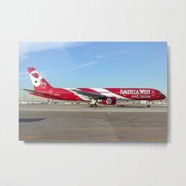 "America West Airlines ""AZ Cardinals"" 757-200 Metal Print"