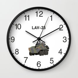 LAV-25 Armored Reconnaissance Vehicle Wall Clock