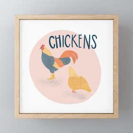 Farmhouse Chickens Framed Mini Art Print
