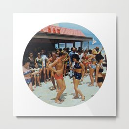Party At The Beach Bar Metal Print