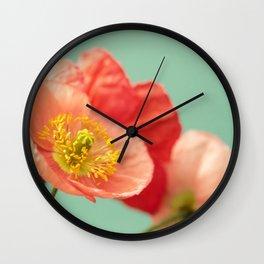 Pastel Poppy #1 Wall Clock