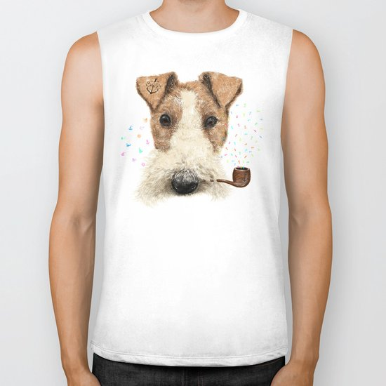 fox terrier sailor Biker Tank