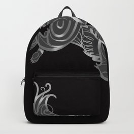Shimmering Silver Ghost Wolf Backpack