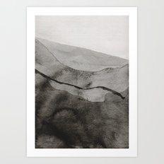 Ink Layers Art Print