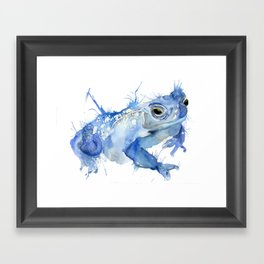 Big Blue Toad Framed Art Print